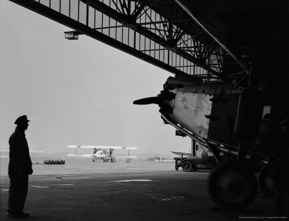 Worker and Airplanes of Deutsche Luft Hansa aG, Berlin-Tempelhof Airport, 1928