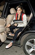 21.JANUARY.2010        LONDON<br /> <br /> SINGER AMY WINEHOUSE ARRIVING AT A HOTEL IN CENTRAL LONDON CARRYING HER LAPTOP AND WEARING A STAR OF DAVID NECKLACE SHOWING HER JEWISH HERITAGE.<br /> <br /> BYLINE MUST READ : EDBIMAGEARCHIVE.COM<br /> <br /> *THIS IMAGE IS STRICTLY FOR UK NEWSPAPERS & MAGAZINES ONLY*<br /> *FOR WORLDWIDE SALES & WEB USE PLEASE CONTACT EDBIMAGEARCHIVE 0044 208 954 5968*