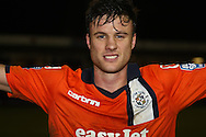 Picture by David Horn/Focus Images Ltd +44 7545 970036.05/01/2013.Jonathan Smith of Luton Town celebrating the victory after the The FA Cup match at Kenilworth Road, Luton.