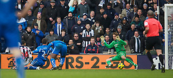 WEST BROMWICH, ENGLAND - Sunday, December 5, 2010: Newcastle United's goalkeeper Tim Krul is beaten by West Bromwich Albion's Peter Odemwingie for the second goal during the Premiership match at the Hawthorns. (Pic by: David Rawcliffe/Propaganda)