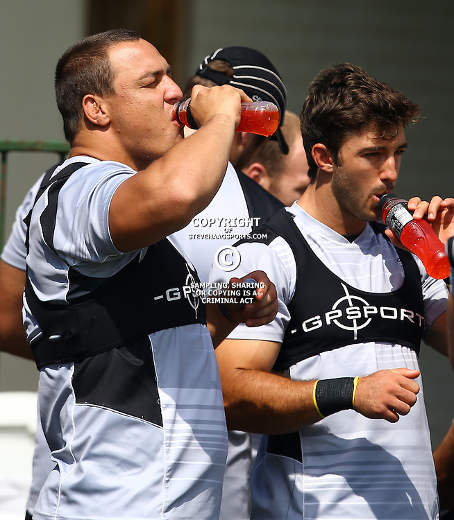 DURBAN, SOUTH AFRICA, 4 April, 2016 - Coenie Oosthuizen during The Cell C Sharks training session  at Growthpoint Kings Park in Durban, South Africa. (Photo by Steve Haag)<br /> images for social media must have consent from Steve Haag