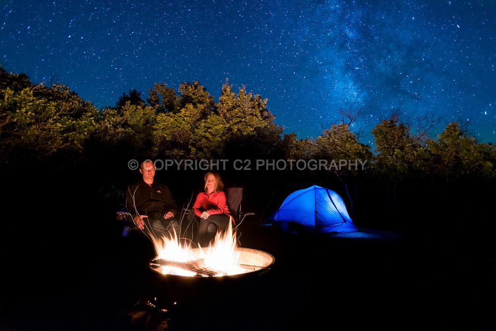 Camping in Mesa Verde National Park.