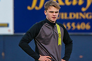 Burton Albion midfielder Jake Hesketh, on loan from Southampton U23 (8) warms up during the EFL Sky Bet League 1 match between Luton Town and Burton Albion at Kenilworth Road, Luton, England on 22 December 2018.