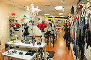 Nov. 23, 2012 - Merrick, New York, U.S. - All Dazzle, a women's fashion and accessory boutique on Long Island, has sales and is decorated in red, white, and black for the winter holidays.