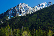 Mountain peak and hillside.<br /> Kootenay National Park<br /> British Columbia<br /> Canada