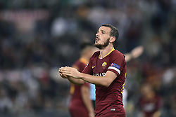 October 2, 2018 - Rome, Rome, Italy - Alessandro Florenzi of AS Roma looks dejected during the UEFA Champions League group stage match between Roma and FC Viktoria Plzen at Stadio Olimpico, Rome, Italy on 2 October 2018. (Credit Image: © Giuseppe Maffia/NurPhoto/ZUMA Press)