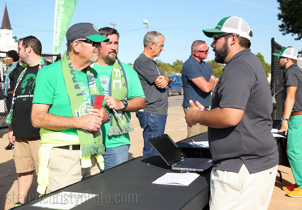 October 4, 2015: The OKC Energy FC plays the Colorado Springs Switchbacks FC in the USL Western Conference Semifinals at Taft Stadium in Oklahoma City, Oklahoma.