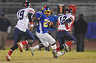 Oxford High's Mont Dean (22) runs vs. Clarksdale in high school football action in Oxford, Miss. on Friday, November 4, 2011. Dean set the season rushing record on the carry. Clarksdale won 20-17.