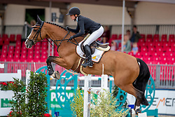 MÜLLER Kathrin (GER), FOR KASH<br /> Münster - Turnier der Sieger 2019<br /> BRINKHOFF'S NO. 1 -  Preis<br /> CSI4* - Int. Jumping competition  (1.50 m) -<br /> 1. Qualifikation Grosse Tour <br /> Large Tour<br /> 02. August 2019<br /> © www.sportfotos-lafrentz.de/Stefan Lafrentz