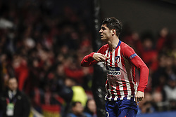 February 20, 2019 - Madrid, Spain - Alvaro Morata (Atletico de Madrid)  in action during the match   UCL Champions League match between Atletico de Madrid vs Juventus at the Wanda Metropolitano stadium in Madrid, Spain, February 20, 2019  (Credit Image: © Enrique De La Fuente/NurPhoto via ZUMA Press)