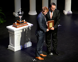 Jordon Cooke of the Kelowna Rockets was named Vaughn Goaltender of the Year at the 2013-14 Canadian Hockey League Awards Ceremony at the Grand Theatre in London, ON on Saturday May 24, 2014. Photo by Aaron Bell/CHL Images