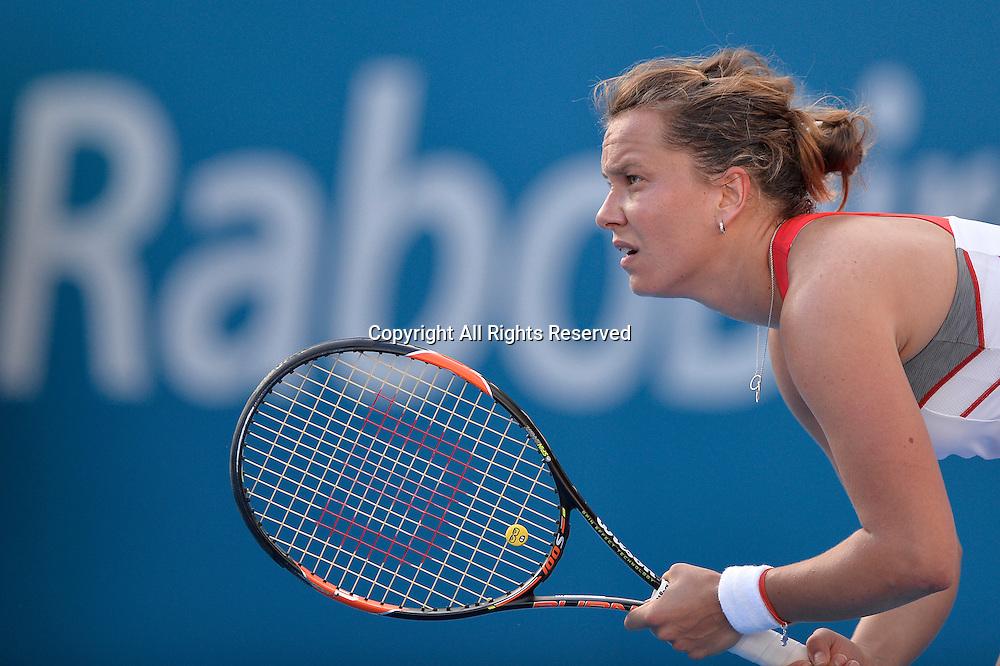 14.01.2015. Sydney, Australia. Apia Tennis International. Barbora Zahlavova Strycova (CZE) in action against Tsvetana Pironkova (BUL)