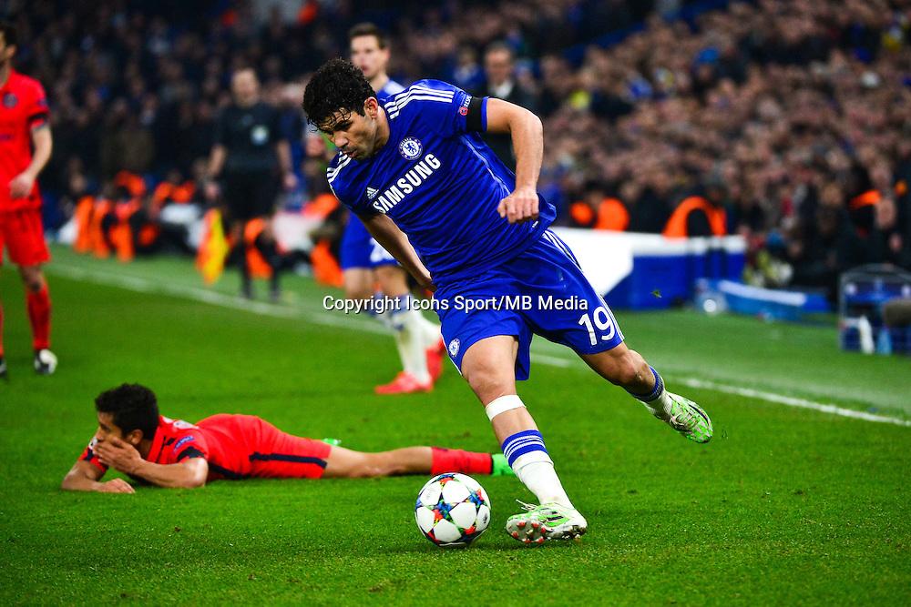 Diego COSTA / MARQUINHOS - 11.03.2015 - Chelsea / Paris Saint Germain - 1/8Finale retour Champions League<br /> Photo : Dave Winter / Icon Sport