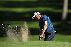 September 16, 2018 - Grand Blanc, Michigan, United States - Stephen Ames of Canada hits out of the bunker toward the second green during the final round of The Ally Challenge presented by McLaren at Warwick Hills Golf & Country Club in Grand Blanc, MI, USA Sunday, September 16, 2018. (Credit Image: © Jorge Lemus/NurPhoto/ZUMA Press)