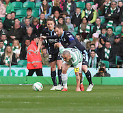 Dundee's Kevin Thomson and Celtic's Scott Brown -  Celtic v Dundee - SPFL Premiership at Celtic Park<br /> <br /> <br />  - © David Young - www.davidyoungphoto.co.uk - email: davidyoungphoto@gmail.com