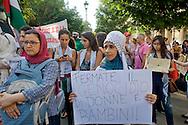 Roma 24 Luglio 2014<br /> Manifestazione in solidarietà alla resistenza del popolo palestinese e contro l'offensiva militare israeliana nella Striscia di Gaza.<br /> Rome July 24, 2014 <br /> Demonstration in solidarity with the resistance of the Palestinian people,  and against the Israeli military offensive in the Gaza Strip.