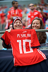 CHARLOTTE, USA - Sunday, July 22, 2018: Liverpool supporters with a Mohamed Salah Egypt shirt during a preseason International Champions Cup match between Borussia Dortmund and Liverpool FC at the  Bank of America Stadium. (Pic by David Rawcliffe/Propaganda)