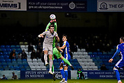 John Marquis of Portsmouth in action during the EFL Sky Bet League 1 match between Gillingham and Portsmouth at the MEMS Priestfield Stadium, Gillingham, England on 1 January 2020.