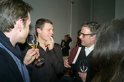 JASSET HARLECH; PAUL FRYER, THE LAUNCH OF THE KRUG HAPPINESS EXHIBITION AT THE ROYAL ACADEMY, London. 12 December 2011.