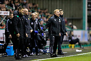 Hibernian manager Neil Lennon issues instructions from the side line during the Ladbrokes Scottish Premiership match between Hibernian and Rangers at Easter Road, Edinburgh, Scotland on 19 December 2018.