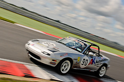 Alan Henderson entering The Esses at Snetterton in his Ma5da Racing Mk1 MX5.