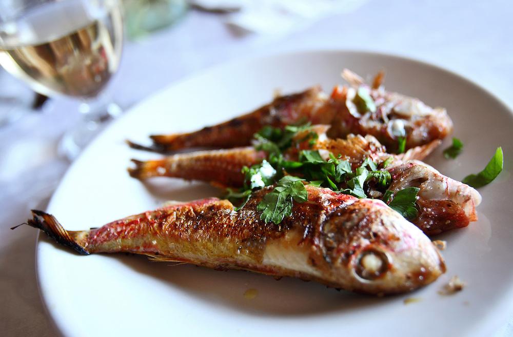 Grilled fish, Catania, Sicily.