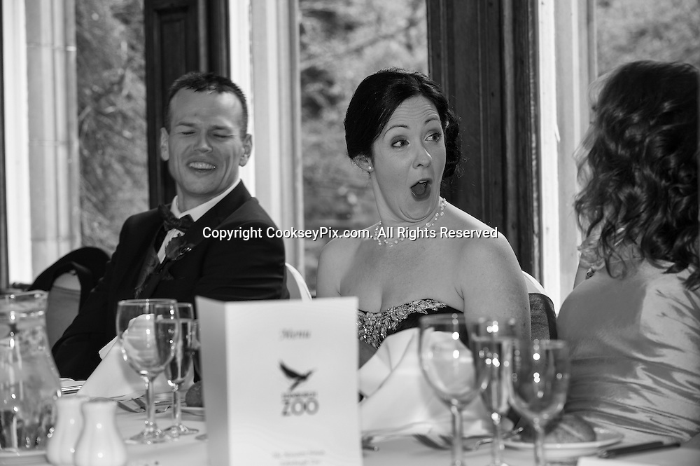 Picture by Christian Cooksey/CookseyPix.com. <br /> <br /> The wedding of Elizabeth McCallum and James Roxburgh at Edinburgh Zoo on the 14th March 2015.