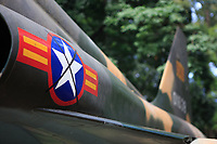 A South Vietnamese fighter plane on display at the Independence Palace, Ho Chi Minh City, Vietnam