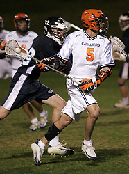 Steve Giannone (5) prepares a shot against Mount St. Mary's.  Giannone had 3 goals in the game as UVA easily won, 16-5.  Virginia went on to win the NCAA national championship later in the 2006 season.<br />