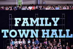 Audience in attendance of a Family Town Hall event with Democratic presidential nominee Hillary Clinton, joined by daughter Chelsea Clinton, in Haverford, Pennsylvania, USA, on October 4, 2016.