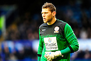 Accrington Stanley's Jason Mooney during the The FA Cup match between Portsmouth and Accrington Stanley at Fratton Park, Portsmouth, England on 5 December 2015. Photo by Graham Hunt.