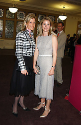 Left to right, HRH the COUNTESS OF WESSEX and VISCOUNTESS LINLEY at a charity event 'In The Pink' a night of music and fashion in aid of the Breast Cancer Haven in association with fashion designer Catherine Walker held at the Cadogan Hall, Sloane Terrace, London on 20th June 2005.<br />