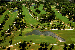 Stock photo of an aerial view of one of Houston's golf courses.