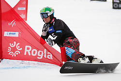 Rok Marguc (SLO) competes during Final Run of Men's Parallel Giant Slalom at FIS Snowboard World Cup Rogla 2016, on January 23, 2016 in Course Jasa, Rogla, Slovenia. Photo by Ziga Zupan / Sportida