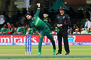 Imad Wasim of Pakistan bowling during the ICC Cricket World Cup 2019 match between Pakistan and Bangladesh at Lord's Cricket Ground, St John's Wood, United Kingdom on 5 July 2019.