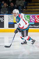 KELOWNA, CANADA - DECEMBER 30: Jake Kryski #14 of the Kelowna Rockets skates against the Victoria Royals on December 30, 2016 at Prospera Place in Kelowna, British Columbia, Canada.  (Photo by Marissa Baecker/Shoot the Breeze)  *** Local Caption ***