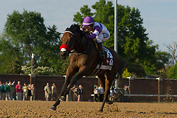 Nyquist with Mario Gutierrez up rounds the final turn and moves on Gun Runner with Florent Geroux up to win the 142nd running of the Kentucky Derby, Saturday, May 07, 2016 at Churchill Downs in Louisville.