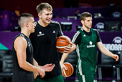 Matic Rebec of Slovenia, Luka Doncic of Slovenia at practice session of Team Slovenia 1 day before final match against Serbia at Day 17 of FIBA EuroBasket 2017 at Sinan Erdem Dome in Istanbul, Turkey on September 16, 2017. Photo by Vid Ponikvar / Sportida