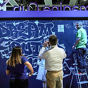Microsoft Build 2019 Seattle. Dream Build Live Mural, artist Testo. Photo by Alabastro Photography.