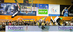 17.05.2015, Walfersamhalle, Kapfenberg, AUT, ABL, ece Bulls Kapfenberg vs magnofit Guessing Knights, 3. Semifinale, im Bild Fans von Guessing // during the Austrian Basketball League, 3th semifinal, between ece Bulls Kapfenberg and magnofit Guessing Knights at the Sportscenter Walfersam, Kapfenberg, Austria o00000n 2015/05/17, EXPA Pictures © 2015, PhotoCredit: EXPA/ Dominik Angerer