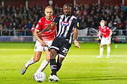 Grimsby Town forward Moses Ogbu in action  during the EFL Sky Bet League 2 match between Salford City and Grimsby Town FC at Moor Lane, Salford, United Kingdom on 17 September 2019.