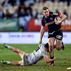 Henry Chavancy of Racing 92 and Chris Farrell of Grenoble  during the French Top 14 match between Grenoble and Racing 92 at Stade des Alpes on March 4, 2017 in Grenoble, France. (Photo by Romain Lafabregue/Icon Sport)