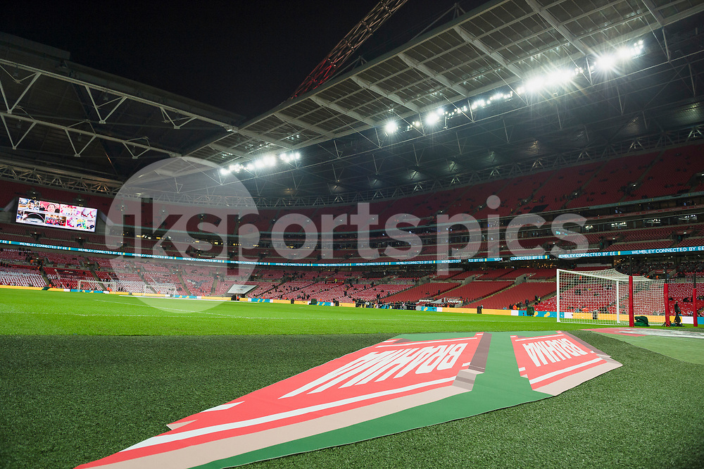 A general stadium view ahead of the international friendly match between England and Brazil at Wembley Stadium, London, England on 14 November 2017. Photo by Darren Musgrove.