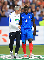 France's Benjamin Mendy during the International Friendly at the Stade de France, Paris. PRESS ASSOCIATION Photo. Picture date: Tuesday June 13, 2017. See PA story SOCCER France. Photo credit should read: Mike Egerton/PA Wire. RESTRICTIONS: Use subject to FA restrictions. Editorial use only. Commercial use only with prior written consent of the FA. No editing except cropping.