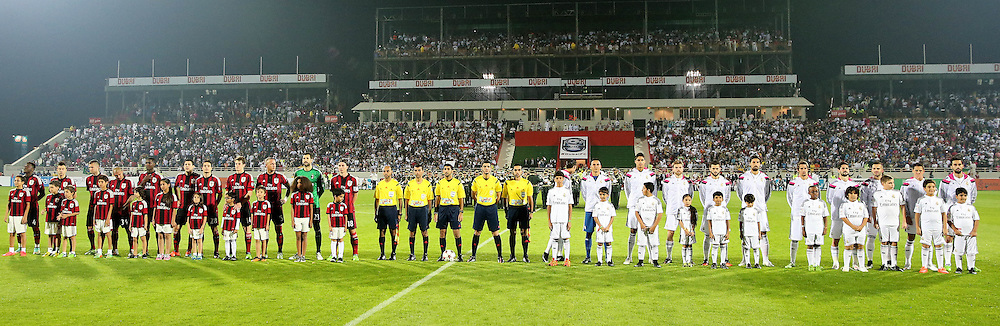 Dubai Football Challenge 2014, Sevens Stadium Dubai, 30/12/14 - AC Milan and Real Madrid before kick off