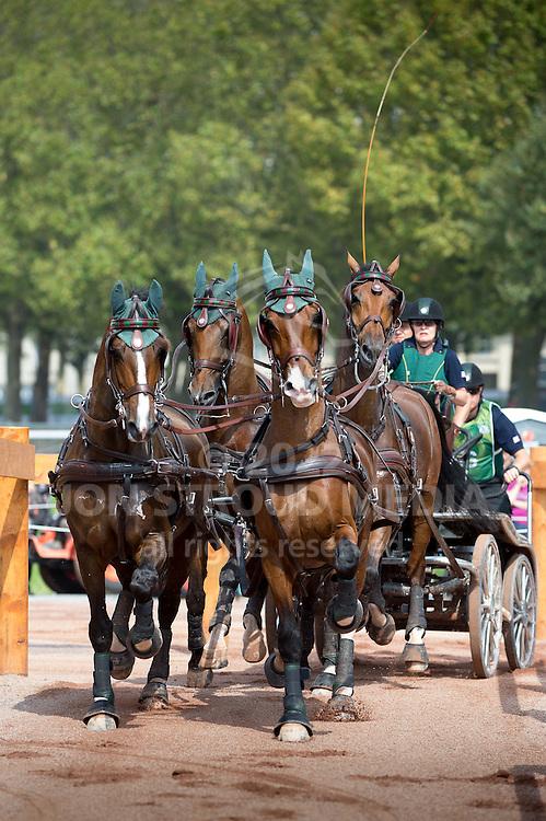 Misdee Wrigley Miller, (USA), Agusstos Armoei, Beau, Carlos, Clemens, Saco - Driving Marathon - Alltech FEI World Equestrian Games&trade; 2014 - Normandy, France.<br /> &copy; Hippo Foto Team - Becky Stroud<br /> 06/09/2014