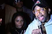 """l to r: Lil Kim and Spike Lee at The Russell Simmons and Spike Lee  co-hosted """"I AM C.H.A.N.G.E!"""" Get out the Vote Party presented by The Source Magazine and The HipHop Summit Action Network held at Home on October 30, 2008 in New York City"""