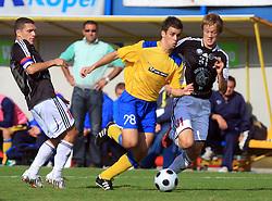 Mitja Viler (28) of Koper and Antonio Mlinar Delamea of Interblock at 12th Round of PrvaLiga Telekom Slovenije between NK Luka Koper vs NK Interblock, on October 4, 2008, in SRC Bonifika in Koper, Slovenia. Interblock won the match 4:1. (Photo by Vid Ponikvar / Sportal Images)