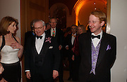 David Starkey and James Brown. National Portrait Gallery  150th Anniversary Fundraising Gala. National Portrait Gallery. London. 28 February 2006. ONE TIME USE ONLY - DO NOT ARCHIVE  © Copyright Photograph by Dafydd Jones 66 Stockwell Park Rd. London SW9 0DA Tel 020 7733 0108 www.dafjones.com