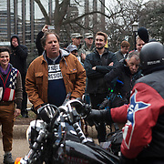 Washington DC, USA, 20 January, 2017. DisruptJ20 protesters argue with a Trump supporter during the inauguration of Donald Trump.
